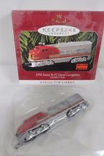 Santa Fe F3 Diesl 1950 locomotive  Lionel Train  Christmas  ornament new IOB