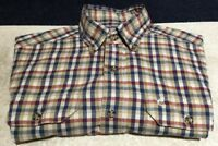 Carhartt Mens Plaid Relaxed Fit Short Sleeve Pocket Shirt Medium