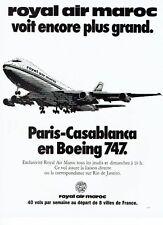 Publicité Advertising 057  1978   Royal Air Maroc   en boieng 747 Casablanca