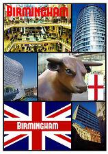 BIRMINGHAM, UK - SOUVENIR NOVELTY FRIDGE MAGNET - SIGHTS - GIFT - XMAS - NEW