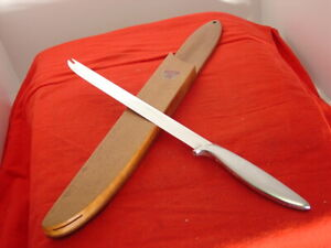 """Gerber Made in USA 15-1/4"""" SNICKERSNEE Fixed Blade Carving Knife & Wood Case"""