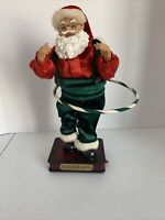 """Vintage Hula Hoop Santa Claus. 14"""" Musical/Animated Motion Not Working Well!"""