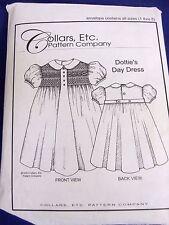 HEIRLOOM DOTTIES DAY DRESS   GIRLS SIZE 1-8 SMOCKED DRESS SEWING PATTERN BISHOP