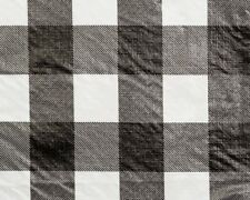 "25 YDS BULK ROLL VINYL TABLECLOTH, CHESSMATE BLACK 54"" W"