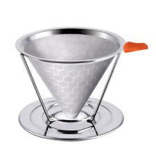 Reusable Coffee Filter Cone Drip Pour Over Coffee Dripper Titanium Mesh Strainer