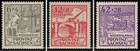 EBS Germany 1946 Soviet Zone - Saxony - Reconstruction set Perf 87A-89A MH*
