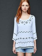 NWT Gap Embroidered bell sleeve blouse, BICOASTAL BLUE SIZE L     #180184