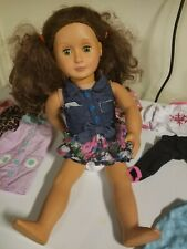 Our Generation Doll With Clothes/Shoes Lot