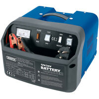 DRAPER 300W 11A AMP 12V 24V CAR VAN LORRY BATTERY CHARGER BOOSTER 200AH NEW