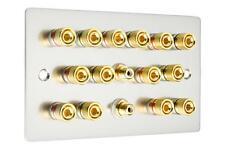 7.2 Altoparlante Piastra Muro Audio AV rifinito in cromo satinato / acciaio