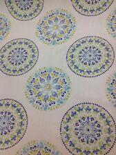 Fryetts Fabrics Minerva Design In Blue By The Half Metre 100% Cotton