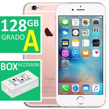 APPLE IPHONE 6s 128GB ROSE GOLD ORO GRADO A ORIGINALE CON SCATOLA BOX ACCESSORI