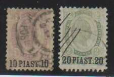 A7758: Austria, Offices in Turkey #30-31, Used; Cv $97