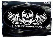 """NOS Harley Davidson ~ Patch ~ Silver Skull Wings ~ Large ~ 5.25"""" x 10.25"""""""