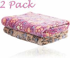 2 Pack Puppy Fleece Blanket for Pet Small Dog Cat Soft Warm Bed Sleep Mat-76*52