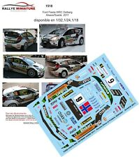 DECALS 1/43 REF 1518 FIESTA WRC OSTBERG RALLYE DE FRANCE ALSACE 2011