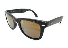 Authentic RAY-BAN Folding Wayfarer Polarized Black Sunglass RB 4105 - 601S55 NEW
