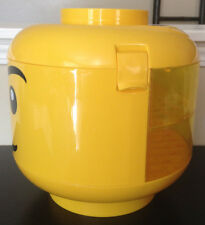 Lego Sorter Storage Head Bin Container Case W/ Clear Trays & Handle~Retired