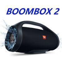 JBL Boombox 2 Portable Black Bluetooth Speaker Brand New Waterproof Subwoofer