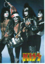 "1997 CORNERSTONE ""ROCKBAND - KISS"" PROMO TRADING CARD - V/GOOD COND"