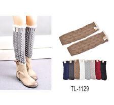 WHOLESALE 6pcs of lot ASSORTED COLORS fashion design leg warmers