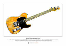 Bruce Springsteen'S 1950's Fender Esquire Limited Edition Fine Art Print A3 size