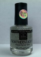 INM Northern Light Holographic Silver Top Coat 1/2 oz Hologram Lacquer