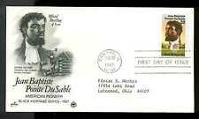 U.S. FDC #2137 Postal Commemorative Society Cachet Chicago, IL Jean DuSable