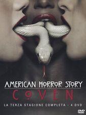 AMERICAN HORROR STORY - STAGIONE 3 - 4 DVD - COFANETTO NUOVO, ITALIANO, SIGILLAT