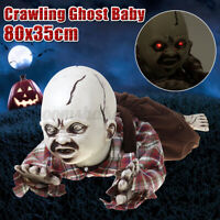 Animated Crawling Baby Zombie Scary Ghost Babies Doll Haunted Halloween Decor