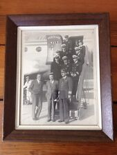 Vtg 1940s Framed Peruvian International Airways Pilots Crew Airplane Photograph