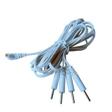 2 Pcs/lot 4 in1 Electrode Lead Wires Connect Cables Pin 2.35mm For TENS 7000