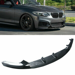 For 14-21 BMW 2 Series F22 M Sport Front Bumper Lip Splitter Carbon Fiber Style