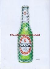 "Becks Lager ""Paranoid"" 2001 Magazine Advert #525"