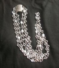 Butler and Wilson Long 3-Strand Crystal Necklace