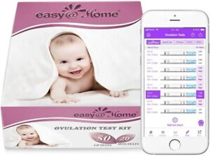 Easy@Home 50 Ovulation and 20 Pregnancy Test Strips Fertility Kit Predictor Pack