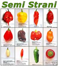 120 Seeds HOT CHILI PEPPERs Classic Coll.: CAROLINA REAPER, GHOST, TABASCO etc