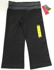 Costco Kirkland Reversible Capri Yoga Gym Pants Leggings, Medium Black & Grey
