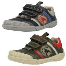Chaussures décontractées à attache auto-agrippant en cuir pour garçon de 2 à 16 ans