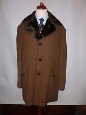 VINTAGE Burleigh doppio spessore cappotto di lana taglia UK 42/44 Made in England