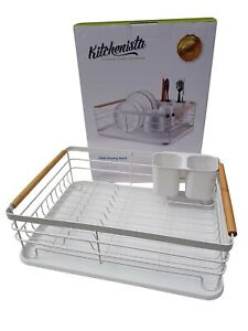 Kitchenista Dish Rack with Drip Tray,Dish Drainer & Removable Cutlery 43x30x14cm