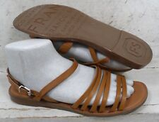 Franco Sarto Womens Gabrina Tan Smooth Leather Strappy Sandals Shoes size 11 M