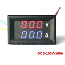 Mini Digital Voltmeter Ammeter DC 100V 50A Panel Amp Volt Voltage Meter Tester