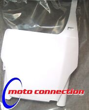 POLISPORT WHITE FRONT NUMBER PLATE BOARD - HONDA CR125 CR250 CRF250 CRF450 05-07