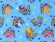 FAT QUARTER MY LITTLE PONY PALS RAINBOWS MAGIC COTTON FABRIC SPRINGS CREATIVE FQ