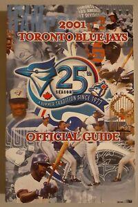 2001 Toronto Blue Jays MLB Baseball Media GUIDE