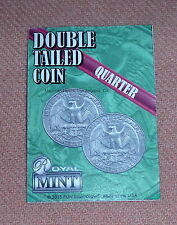 DoubleTailed Quater, Real US 25¢ Coin, Made in the USA (1586)