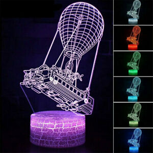 3D Fortnite Game Bed Air Balloon Touch Lamp Boat Hot LED Night Light Control HOT