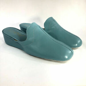 VINTAGE WOMENS LAMO OOMPHIES GRANADA LEATHER HOUSE SHOES SLIPPERS NIB