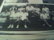 b/w photograph 4 x 6 inches tennis group 1950s B